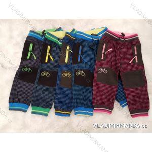 Kalhoty manžestrové outdoor bavlněné kojenecké a dětské dívčí a chlapecké (80-110) KUGO M5002