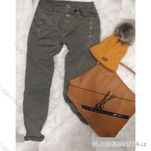 Kalhoty riflové dámské (s-xl) ITALSKá MóDA IM518316