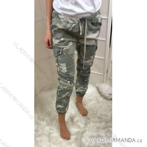 Kalhoty společenské dlouhé dámské polyesterové (uni s/m) ITALSKá MóDA IMT190378