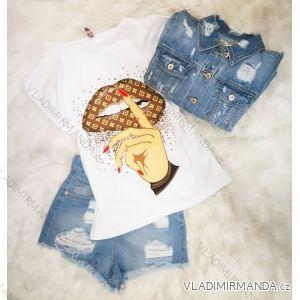 Tričko krátký rukáv dámské (s-l) Turecká móda IMT19400