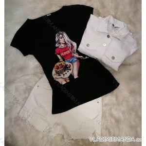 Tričko krátký rukáv dámské (s-xl) Turecká móda IMT19404