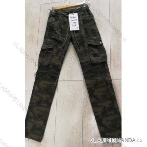 Kalhoty dorostenecké chlapecké maskáč (134-164) GRACE GRA1981922
