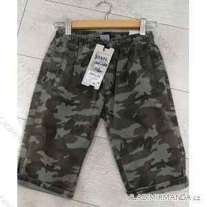 Kalhoty 3/4 dorost chlapecké maskáč (134-164) GRACE GRA1983352