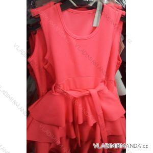 Šaty letní bez rukávů dětské dorost  (4-14 let) ITALSKÁ MLADÁ MÓDA IMM219034