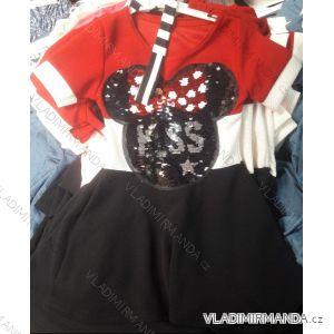 Šaty letní bez rukávů dětské dorost s obrázkem (4-14 let) ITALSKÁ MLADÁ MÓDA IMM219035