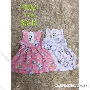 Šaty letní bez rukávu dětské dívčí (1-5 let) SAD MA319FF32