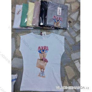 Tričko krátký rukáv dámské (s-l) Turecká móda IMT19456