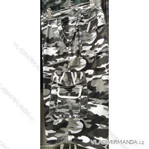 Kalhoty 3/4 pánské maskáčové nadrozměrné (l-3xl) BAT19QNAM-3/4-RAN-RI2
