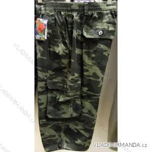 Kalhoty 3/4 krátké maskáčové pánské nadrozměrné (l-4xl) BATY BAT19QNAM-KAKI-3/4-ARMY-MAX