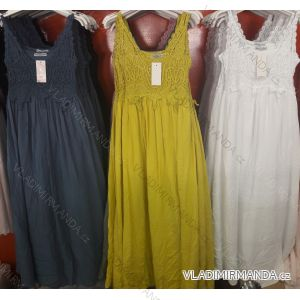 Šaty letní na ramínka dámské (uni s/m) ITALSKá MóDA IM719177