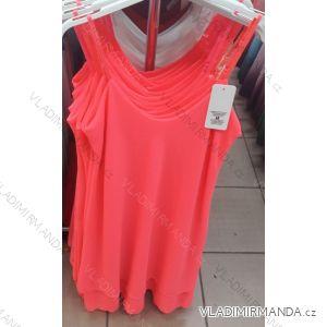 Šaty letní na ramínka dámské sifonové neon (uni s/m) ITALSKá MóDA IM319164N