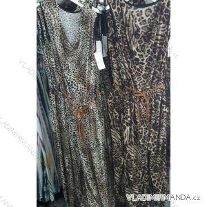 Šaty leopardí vzor dlouhé letní dámské (uni s/m) ITALSKá MóDA IM719179