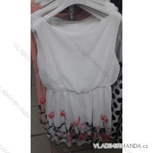 Šaty letní bez rukávů květy dámské (uni s/m) ITALSKá MóDA IM319146