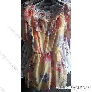 Šaty letní krátké s odhalenými rameny dámské květ (uni s/m) ITALSKá MóDA IM919319