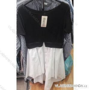 Tričko se všitou košilí alá šaty dámské  (uni s/m) ITALSKá MÓDA IMT19651