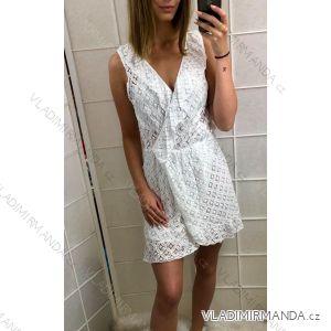 Šaty bez rukávů krajkové dámské (uni s/m) ITALSKá MóDA IMT19374