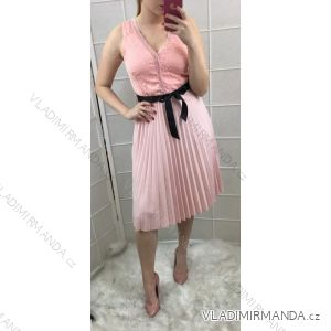 Šaty bez rukávu letní elegantní dlouhé dámské (uni s/m) ITALSKá MóDA IM719176