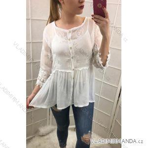 Košile s tílkem dámská krajka prodloužená (uni s/m) ITALSKá MODA IM519351950