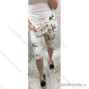 Kraťasy šortky letní dámské květy (uni s/m) ITALSKá MóDA IM519123