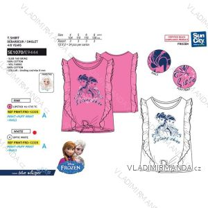 Tričko krátký rukáv frozen ledové království dětské dívčí bavlněné (4-8 let) SUN CITY SE1070