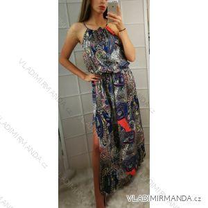Šaty dlouhé letní dámské  (uni s-l) ITALSKá MóDA IMC18956