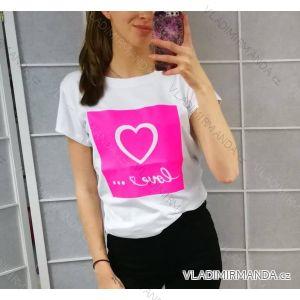 Tričko s krátkým rukávem dámské (uni s/m) ITALSKá MóDA IM519030