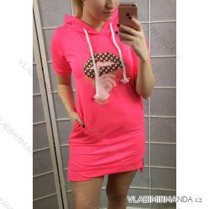 2423bacb83d9 šaty Mikina krátký rukáv dámská neonová (uni s-l) ITALSKá MODA IMT19168