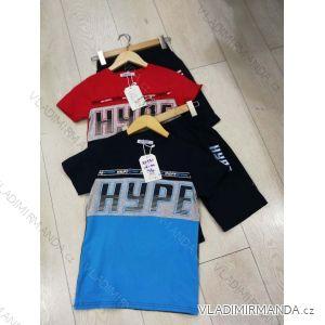 Souprava tričko krátký rukáv+kraťasy dětská dorost chlapecká (116-146) GRACE GRA1982337