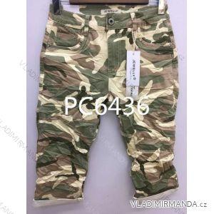 Kalhoty 3/4 dámské maskáč (xs-xl) JEWELLY LEXXURY MA519PC6436
