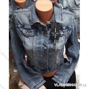 Bunda riflová jeans dámská (s-2xl) Ytaimaska MA119CY-208