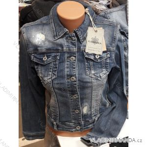 Bunda riflová jeans dámská (s-2xl) Ytaimaska MA119HS-3217