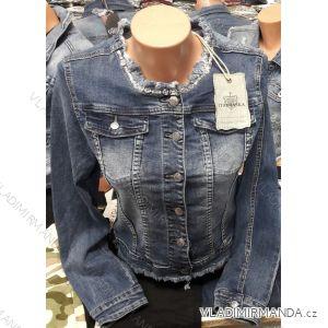 Bunda riflová jeans dámská (s-2xl) Ytaimaska MA119HS-3215