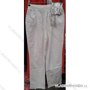 Kalhoty bavlněné dlouhé nadrozměrné dámské (xl-5xl) ITALSKá MóDA  IM919me-2012