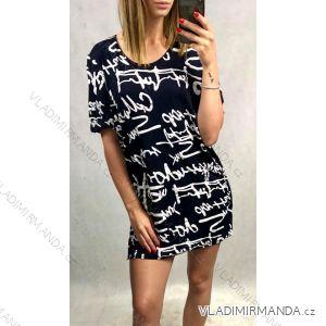 9d9d054582d5 Šaty tunika letní krátký rukáv dámské (46-52) POLSKÁ MóDA PM519007