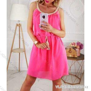 Šaty šifonové letní na ramínka dámské neon (uni s/m) ITALSKá MóDA IM419576