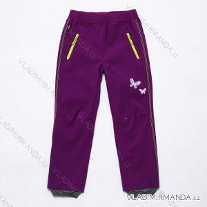 Kalhoty  slabé jarní softshellové dětské  dívčí   (116-146) WOLF B2982