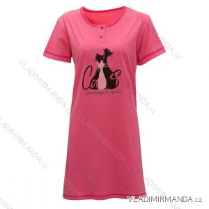 Noční košile krátký rukáv dámská (m-3xl) WOLF MD2941