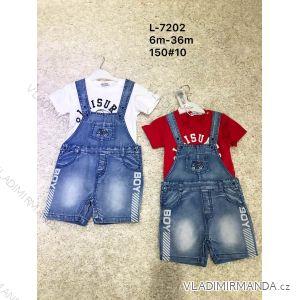 Souprava letní tričko krátký rukáv a kraťasy s laclem dětské chlapecké (6m-36m) ACTIVE SPORTS ACT19L-7202
