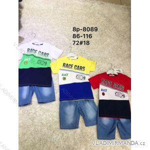 Souprava letní tričko a riflové kraťasy detska chlapecká (86-116) ACTIVE SPORTS ACT198P-8089