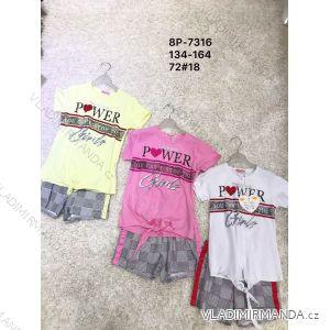 Souprava letní tričko a kraťasy dorost dívčí (134-164) ACTIVE SPORTS ACT198P-7316