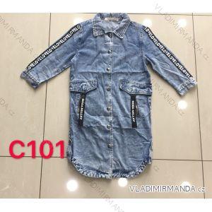 Bunda riflová dlouhá dámská (xs-xl) Re-dress MA119101
