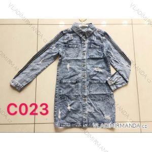 Bunda riflová dlouhá dámská (xs-xl) Re-dress MA119C023