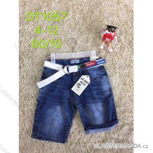 Kraťasy šortky riflové s páskem dětské dorost chlapecké (4-12 let) SAD SAD19DT1057