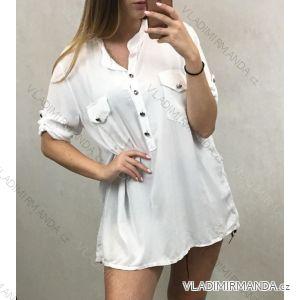Košile 3/4 dlouhý rukáv dámská (uni m/l) ITALSKá MóDA IM719704