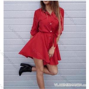 Šaty košilové tenké 3/4 dlouhý rukáv dámské (uni s-l) ITALSKá MóDA IMT18570