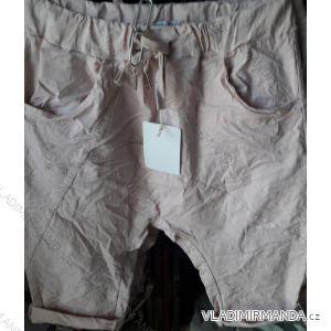 Kalhoty 3/4 krátké plátěné dámské (UNI S-L) ITALSKÁ MÓDA IM519449