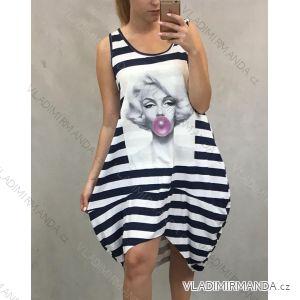 Šaty dámské letní bez rukávu proužek Marilyn (uni s/m) ITALSKá MóDA IM41912220