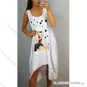 Šaty oversize na široká ramínka dámské letní s nášivkou (uni s/m) ITALSKá MóDA IM819059