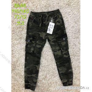 Kalhoty plátěné dětské dorost chlapecké maskáčové (110-140) SAD SAD19BK48