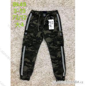 Kalhoty plátěné dětské dorost chlapecké maskáčové (3-13 let) SAD SAD19BK49